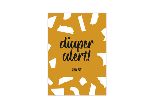 Studio Stationery Card Diaper Alert, per 10 pieces