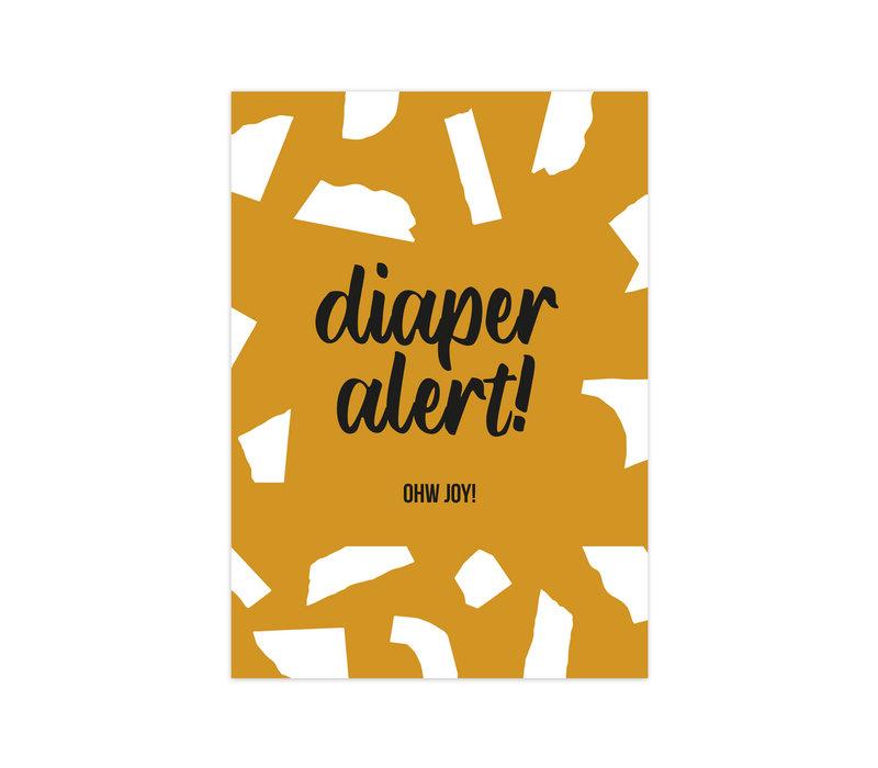 Card Diaper Alert, per 10 pieces