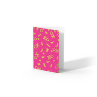 Greeting card XO,  per 10 pieces