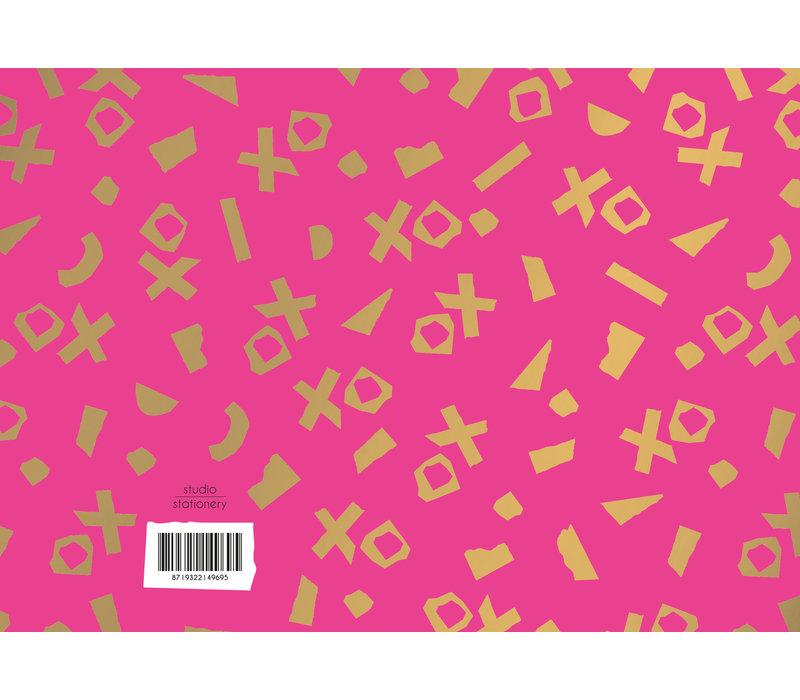 Greeting card XO,  per 10 stuks