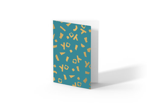Studio Stationery Greeting card YO,  per 10 stuks