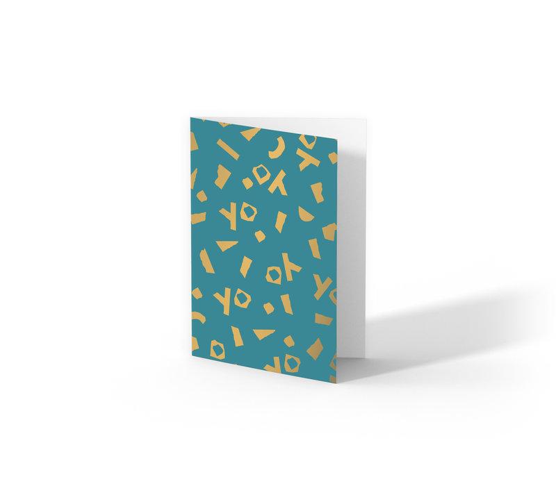 Greeting card YO,  per 10 stuks