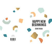 Greeting card Happy New Beginnings, per 10 pieces