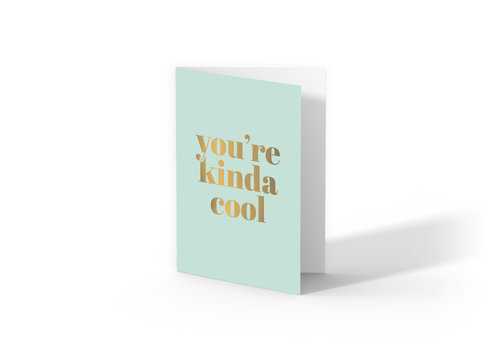 Studio Stationery Greeting card You're kinda cool, per 10 pieces