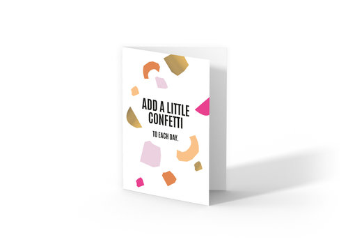 Studio Stationery Greeting card Add a little confetti, per 10 pieces