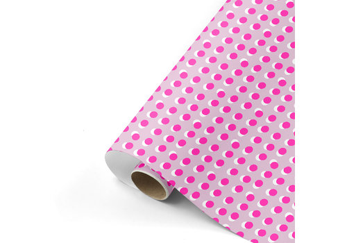 Studio Stationery Gift wrap Dots pink/neon 70x200 cm, per 10
