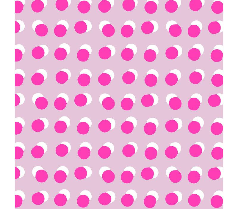Cadeaupapier Dots roze/neon 70x200 cm, per 10