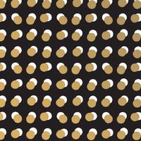 Cadeaupapier Dots zwart/goud 70x200 cm, per 10