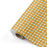 Cadeaupapier Dots oker/mint 70x200 cm, per 10