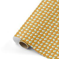 Gift wrap Dots ocker/mint 70x200 cm, per 10