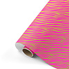 Studio Stationery Cadeaupapier Zebra roze/goud 70x200 cm, per 10