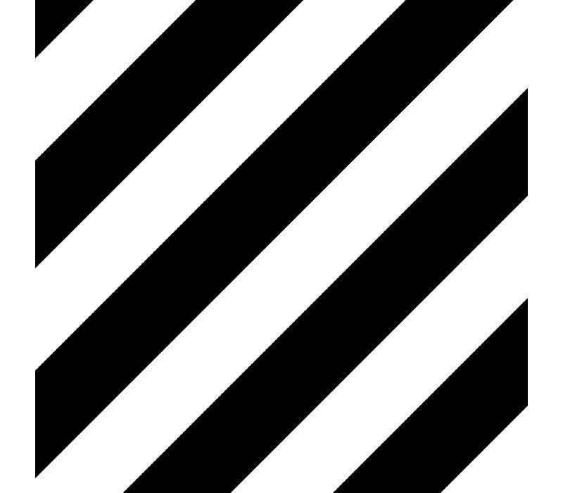 Cadeaupapier Bold Lines zwart/wit 70x200 cm, per 10