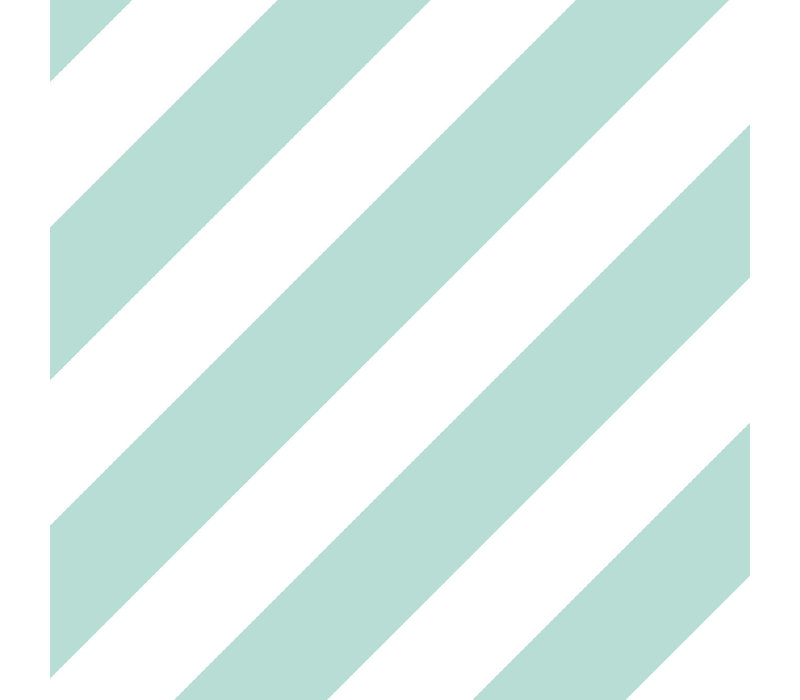 Gift wrap Bold Lines mint/white 70x200 cm, per 10