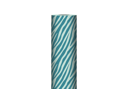 Studio Stationery Counter roll Zebra petrol/mint 70cm 100 meter