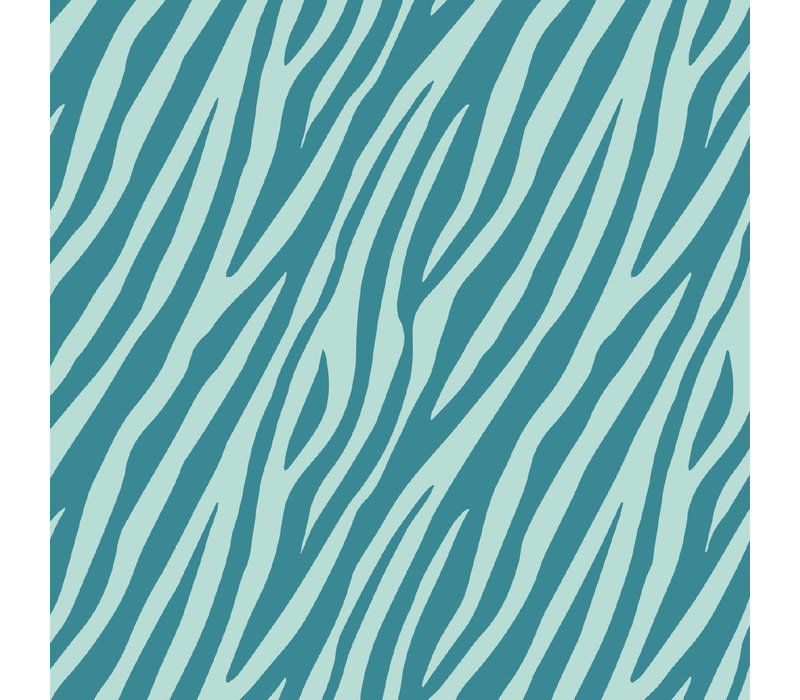 Toonbankrol Zebra petrol/mint 70cm 100 meter