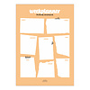 Studio Stationery A4 Noteblock weekplanner Perfectly Structured Blush, per 5 stuks