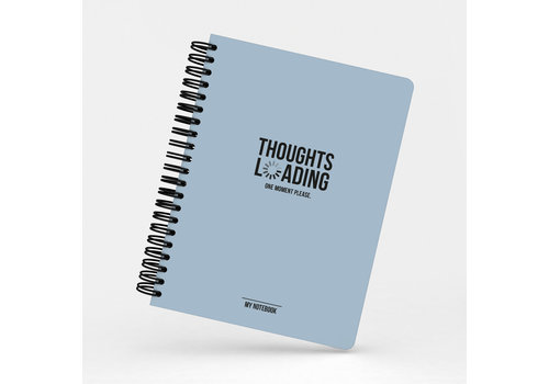 Studio Stationery My Blue Notebook Thoughts loading, per 3 pieces