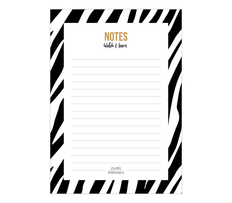 A6 Noteblock Notes zebra black & white, per 6 stuks