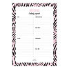 Studio Stationery A5 Notepad Creatively Organized Pink leaves, per 5 pieces