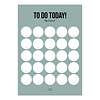 Studio Stationery A5 Noteblock To do Today sage, per 5 pieces