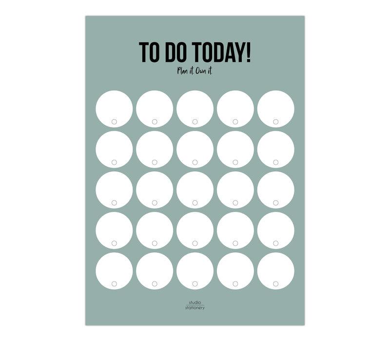 A5 Noteblock To do Today salie, per 5 stuks