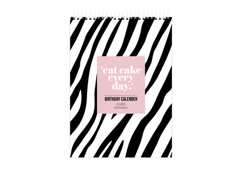 Studio Stationery Birthday calendar Eat Cake Every Day, per 5 stuks