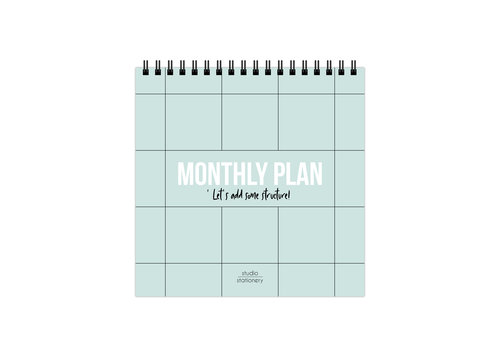 Studio Stationery Monthly plan bureaukalender, per 3 stuks
