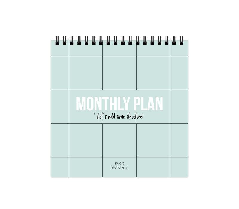 Monthly plan desk calendar, per 3 pieces