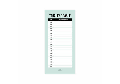 studio stationery Daily Plan noteblock Totally Doable, per 5