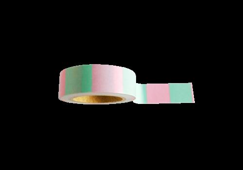 Studio Stationery Washi tape Mint pink, per 9 stuks
