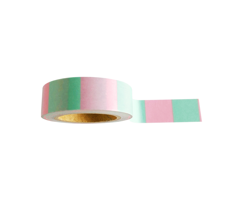 Washi tape Mint pink, per 9 pieces