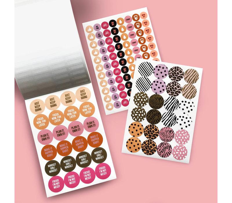 Stick it Stickerbook Pink, per 6 pieces