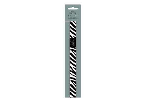 Studio Stationery Elastic band Zebra, per 10 pieces