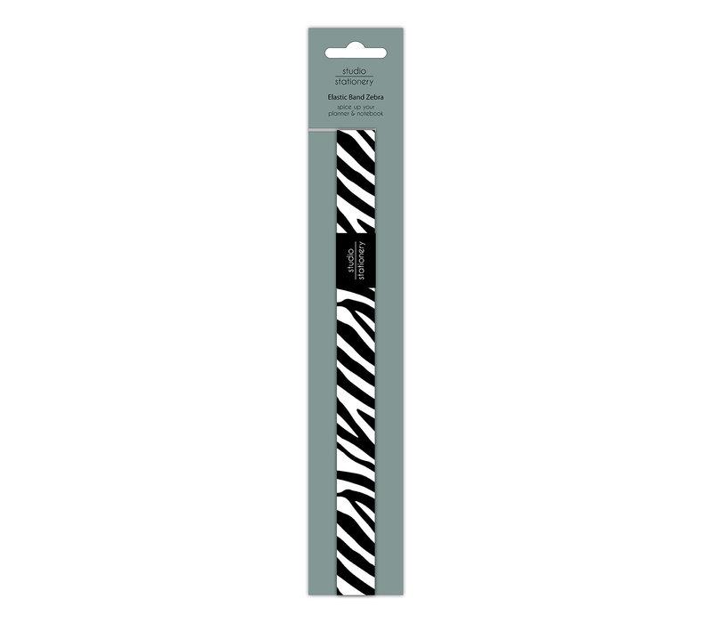 Elastic band Zebra, per 10 pieces