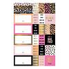 Studio Stationery Stickersheets Pink & Gold set 3 sheets, per 10 sets