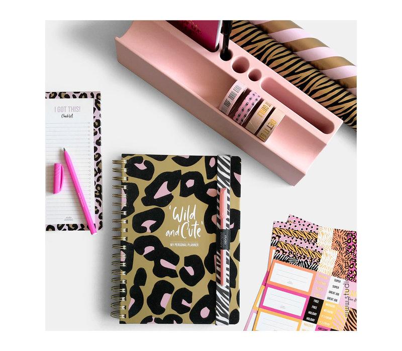 Stickervellen Pink & Gold set 3 vel, per 10 sets