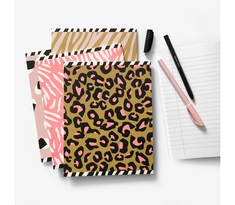A5 notebooks softcover Warm 4-pack, per 3