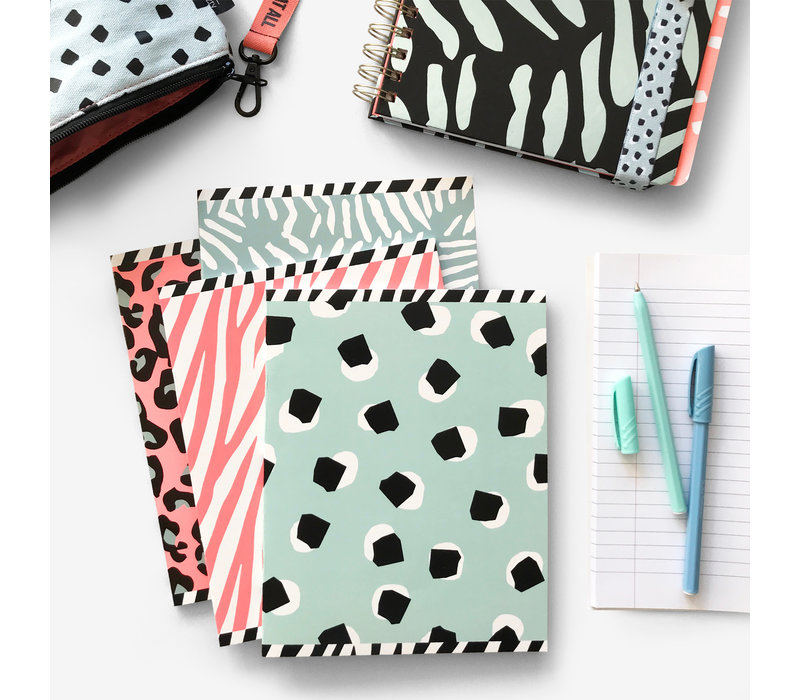 A5 exercise books softcover Cool 4-pack, per 3