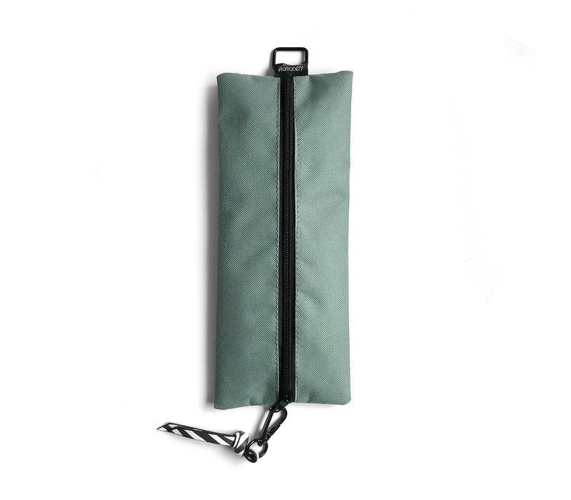 Pencil Bag sage & leaves, per 3