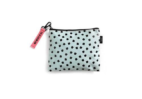 Studio Stationery Canvas Bag Mint Dots, per 3