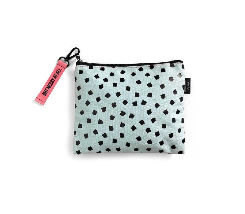 Canvas Bag Mint Dots, per 3