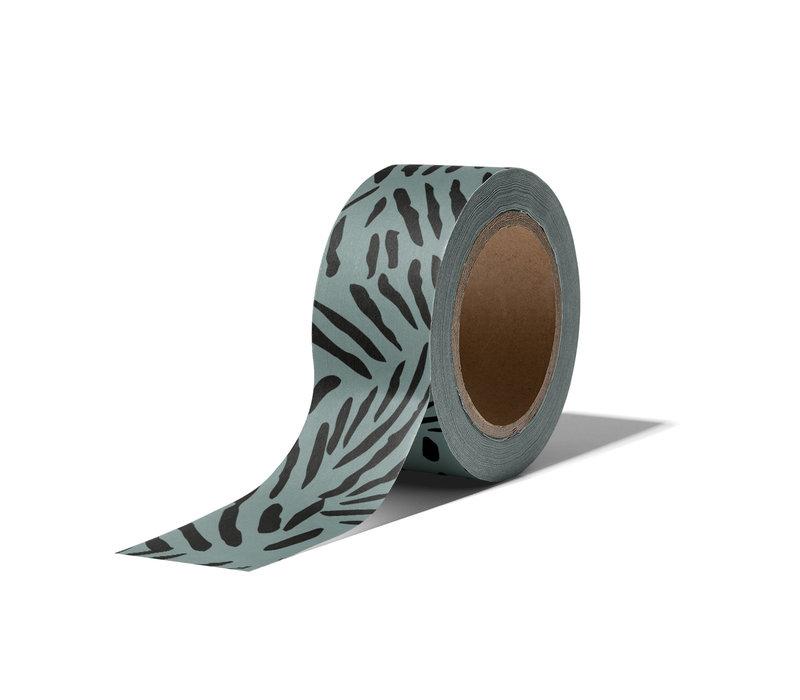 Washi tape Leaves sage, per 9 stuks
