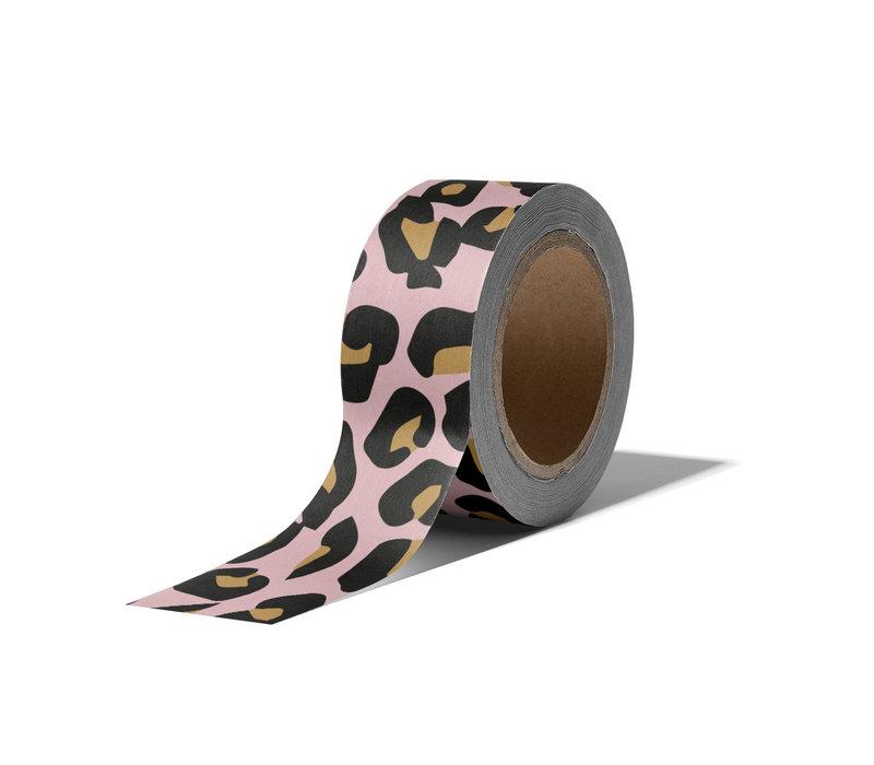 Washi tape Cheetah, per 9 pieces