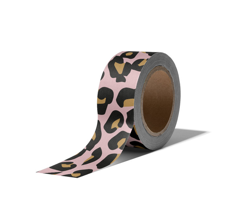 Washi tape Cheetah, per 9 stuks