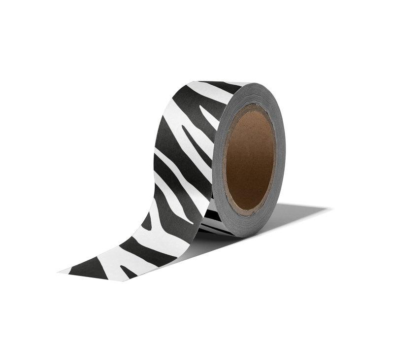 Washi tape Zebra, per 9 pieces