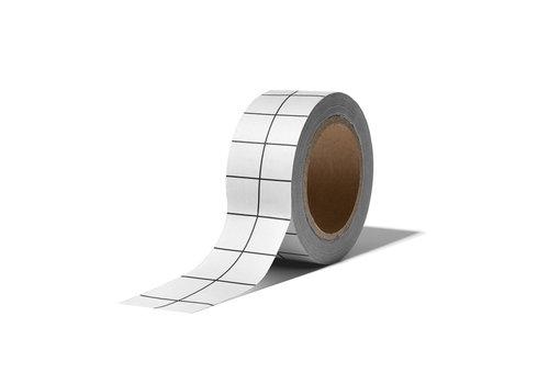 Studio Stationery Washi tape Grid white, Per 9 stuks