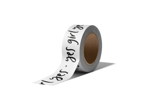 Studio Stationery Washi tape Yes girl yes, per 9 pieces