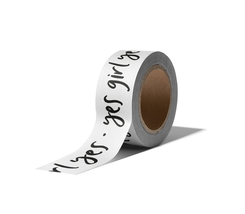 Washi tape Yes girl yes, per 9 pieces