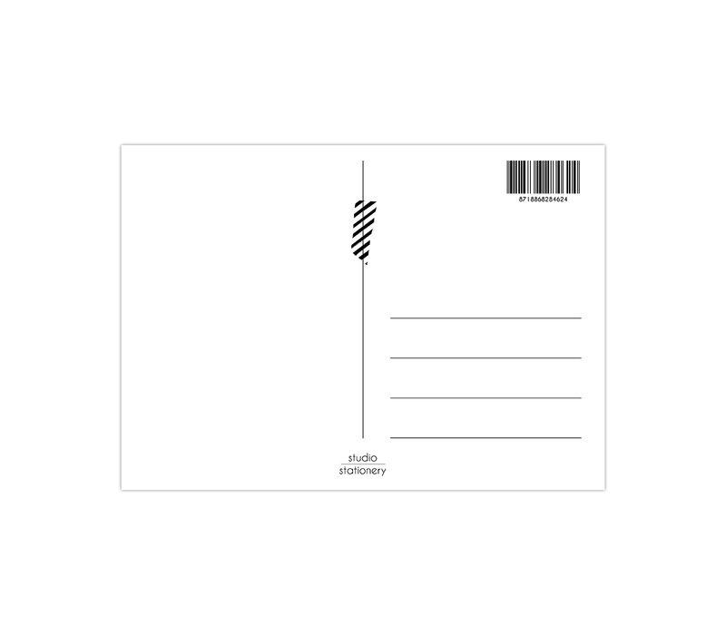 Kaart Zebra Pattern neon, per 10 stuks