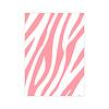 Studio Stationery Kaart Zebra Pattern neon, per 10 stuks